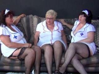Older bigger mature lesbian ladies dressed as nurs