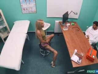 Sweet Blonde Russian Eats Docs Cum