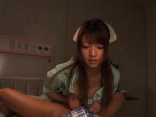 Yua Yoshikawa Hot nurse sucks cock and fondles her