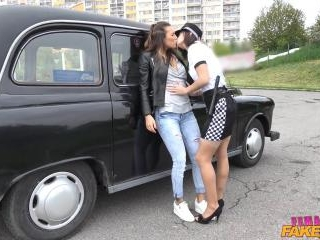 Lesbian Cop Catches Naughty Cabbie