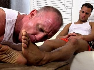 Dark Skinned Hunk Javi Gets His Feet Worshiped - J