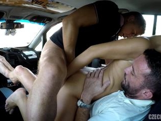 DP Threesome in TAXI Cab