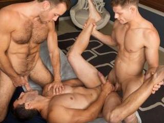 Bareback Threeway with Randy, Dean & Cory