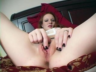 Camgirl masturbates on webcam