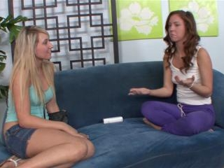 Lilly Banks and Maddy Oreilly get wet and wiggly