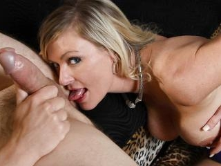 Busty Blonde Milf Worships Ass And Takes A Load