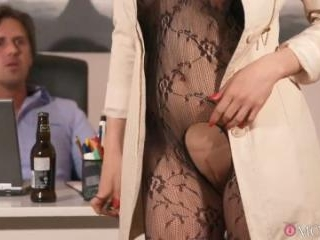 Surprise Office Sex with Horny Wife