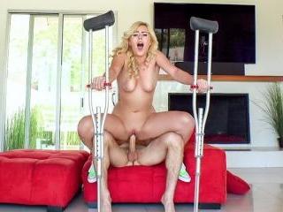 Twerking Blonde Blows Insurance Guy
