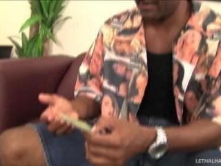 young Maia Davis reads tarot cards gets big black