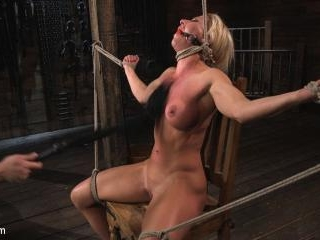 Ariel X is Tormented in Brutal Bondage and Double