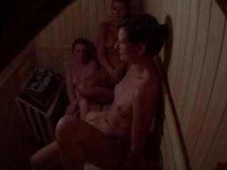 Hidden Cam Catches 3 Girls in Sauna