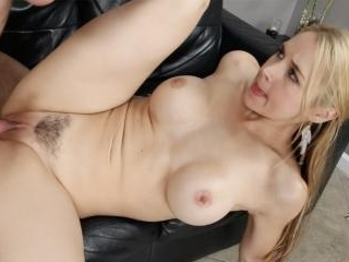Sexy Sarah gets fucked hard on the couch