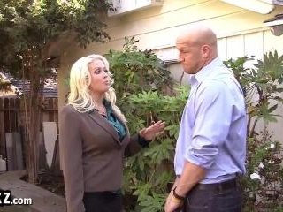 Busty Blonde MILF Makes A Dirty Deal