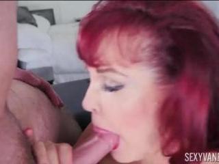 Latin Big Boob MILF Sucks Young Cock- Sexy Vanessa