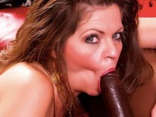 Hot cougar gets some big black cock