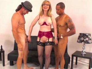 Twos guys for Nina Hartley