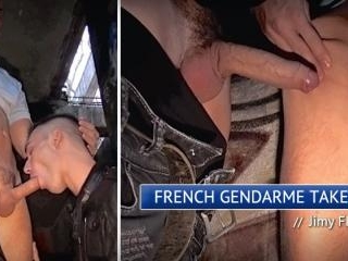 French Gendarme Takes A Rough Fuck