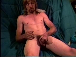 Wayne Strokes His Cock