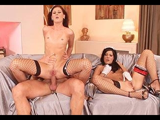 French maids in hot threesome set!