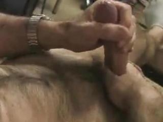 Horny anonymous bear jacking off