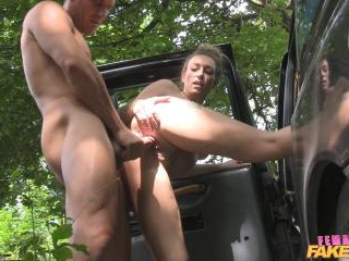 Hot Cabbie Fucked on Taxi Bonnet