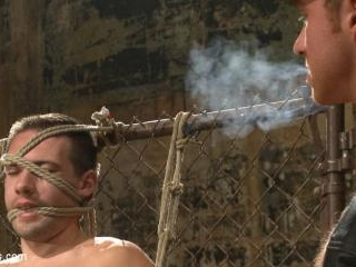 Connor Maguire tests his slave\'s hunger for pain