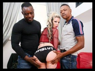 Barbie Sins Squirts In Interracial DP!