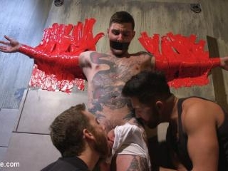 Teddy Bryce Gets Tied Up, Locked Down And Edged Ha