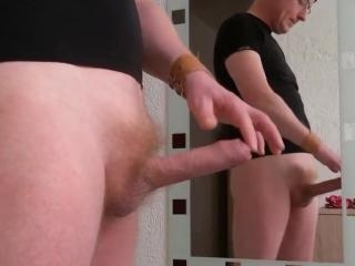 Boyfriend playing with his dick on cam