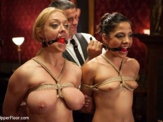 Big Tits Blonde Slave Suspended for Anal Fuck vs.