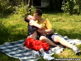 Twinks Get Frisky Outdoors