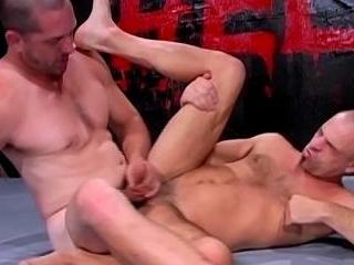 Jason Davis, Paul Carrigan Wrestle For Ass