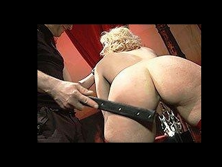 Blonde housewife enjoys being punished