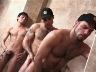 Latin Uniformed Toilet Orgy