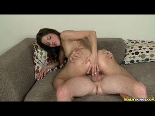 Evilyn gets her tight little pussy fucked hard