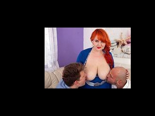 Katrin Porto: Thick, Juicy Redhead Drains Two Stud