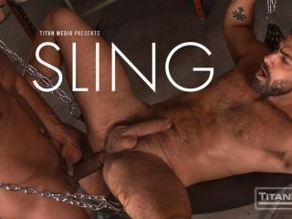 Sling: Muscle Stud Jason Vario Shows Deliveryman A