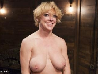 Busty Blond MILF molested in ruthless backbends