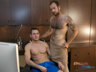 Bareback office fuck starring Maxx Fitch and Dalto