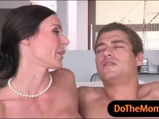 Kendra Lust MILF threesome with stepson and his GF