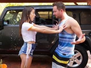 Step Bro Hoses Down Big Titty Step Sister