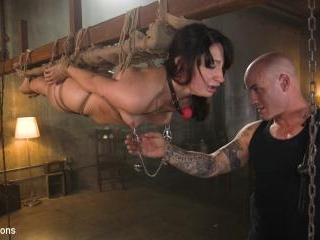 Petite Pain Slut Violet Monroe in Rope Bondage and