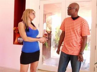 Nikki Sexx blonde MILF gets interracial anal
