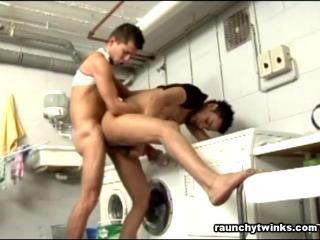 Bareback Laundry Room Sex