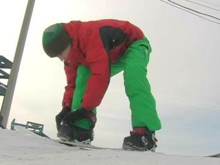 Cool guy snowboarding