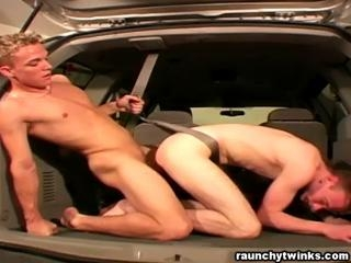 Bareback anal fuck at my car