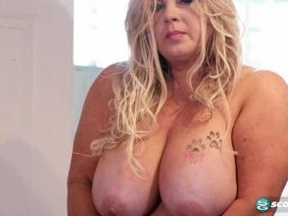 Big tits, big ass and a big toy