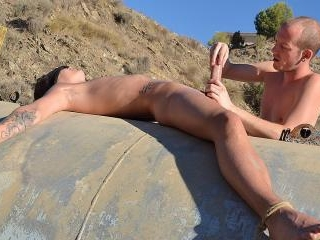 Wanking His Huge Cock To A Fountain Of Cum! - Char