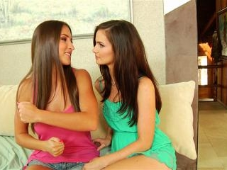 Lily Carter and Lizz Tayler passionate lesbian sex