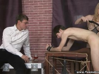 Teens Analyzed - Assfucked and double-drilled on a